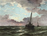 botters heading out to open sea by jan van der linde