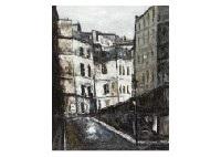 at the corner of the street in paris by akira komatsu