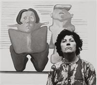 maria lassnig vor selbstbildnis in der galerie nächst st. stephan by barbara pflaum