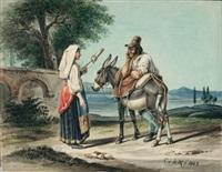 griechisches bauernpaar by karl wilhelm von heideck