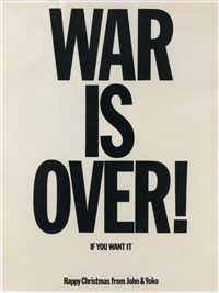 war is over! / if you want it by yoko ono and john lennon