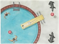 swimming pool by michael ansell