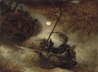 the shipwreck by andreas achenbach