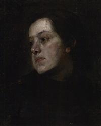 brustporträt einer jungen magd by leo samberger