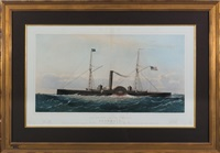 the united states gunboat shamrock by endicott & co. (printers)