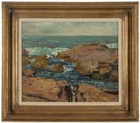 coastal rocks by franz arthur bischoff