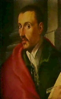 bildnis eines herrn in rotem mantel by girolamo macchietti