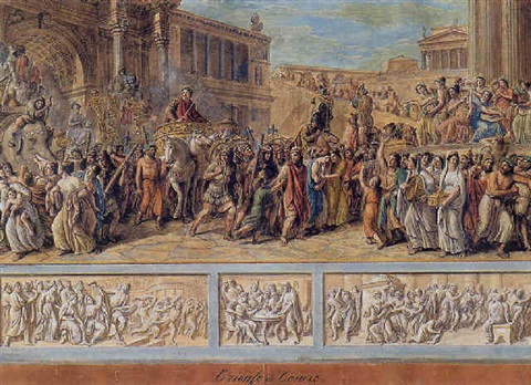 scene from roman history by luigi ademollo