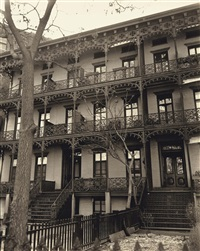 wrought iron ornament, west eleventh street 112-114 by berenice abbott
