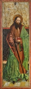 zwei altarflügel: der heilige paulus bzw. der heilige petrus by german school-southern (15)