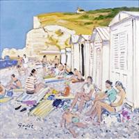 la plage d'étretat by pierre godet