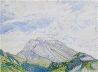 berglandschaft by albert trachsel