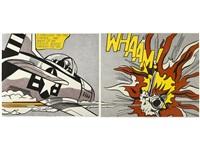 whaam! (diptych) by roy lichtenstein