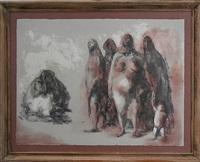women by the fire by francisco zúñiga