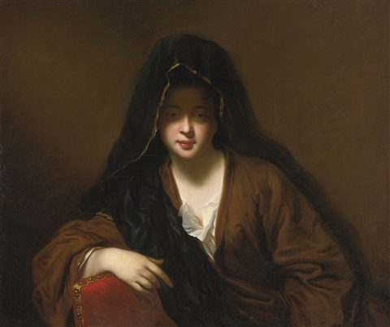la femme voilée by jean baptiste santerre