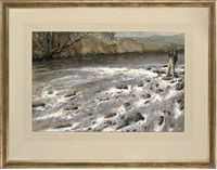 fishing on the tay, a heavy torrent by graham smith