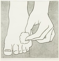 foot medication by roy lichtenstein