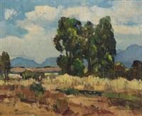 landscape with trees by piet (pieter gerhardus) van heerden
