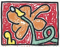 flowers suite : one plate by keith haring