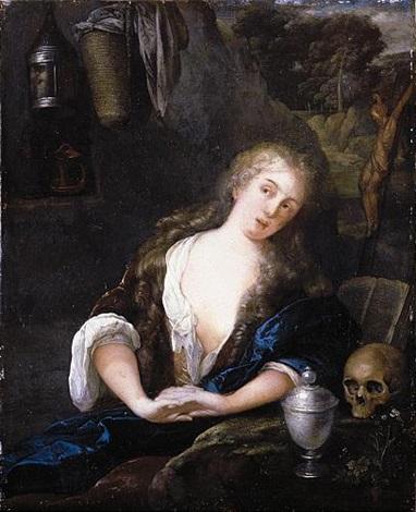 the penitent magdalene by eglon hendrik van der neer