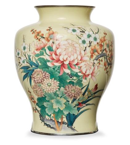 An Impressive Cloisonne Vase By Ando Cloisonne Co On Artnet