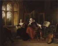 on her spanish guitar, she played a ditty with lulled her old guardian to sleep by john cawse