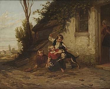 lekande barn by hendrick joseph dillens