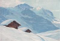 la jungfrau vue de la petite scheidegg by charles henry contencin