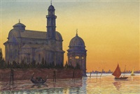 venedig, san francesco in deserto by josef erwin von lippert
