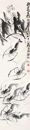 水仙虾趣 by qi baishi