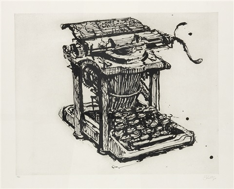 large typewriter by william kentridge