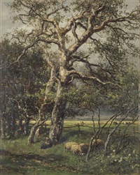 a quiet rest under a tree by willem roelofs