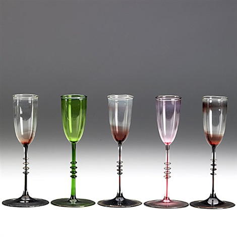 cordial glasses set of 5 by karl g koepping