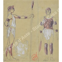 costumi per la nave di g. d'annunzio by duilio cambellotti