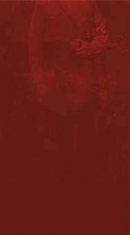 untitled (old nazi) from the red series (militares) by rosángela rennó