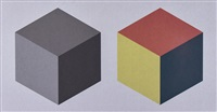 two cubes by sol lewitt
