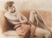 reclining nude by jan asselbergs