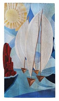 vele sullo stretto (diurno) by giulio d'anna