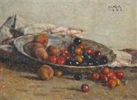 kirschen und pfirsiche (cherries and peaches) by josef köpf
