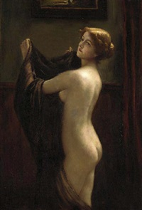a woman undressing by otto theodore gustav lingner