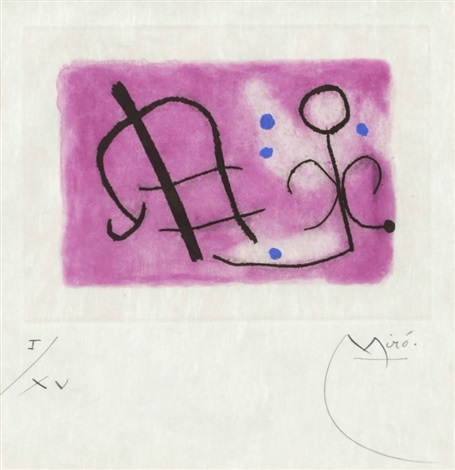 pl 11 from fusées series by joan miró