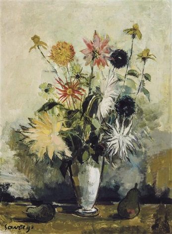 nature morte aux fleurs by albert saverys