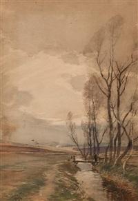 whin burning, eden water, gordon berwickshire by tom scott