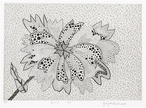 flower a b sold with 24ab set of 3 by yayoi kusama