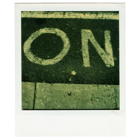 detail of street lettering on by walker evans