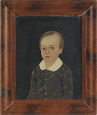 prior-hamblin school portrait of a young boy with light brown hair and a plaid jacket with a white collar by william w. kennedy