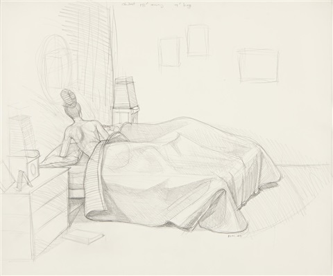 preliminary sketch for black painting by kerry james marshall
