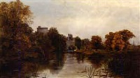 river thames at windsor castle by walter h. w. foster