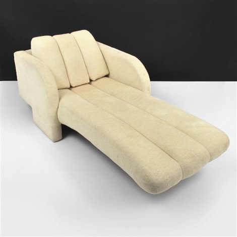 chaise lounge chair with channeled back by vladimir kagan
