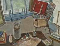 artist's studio by norman clark